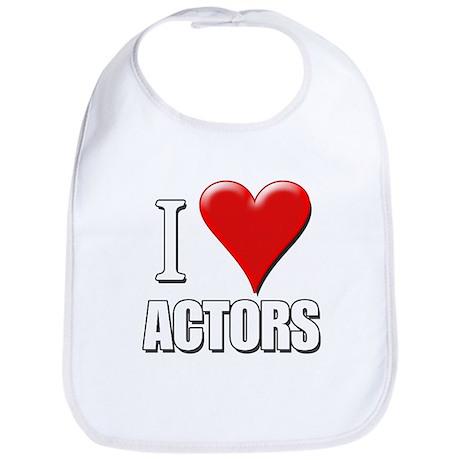 I Love (Heart) Actors Bib