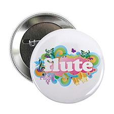 """Flute Retro 2.25"""" Button"""