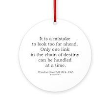 Winston Churchill 27 Ornament (Round)