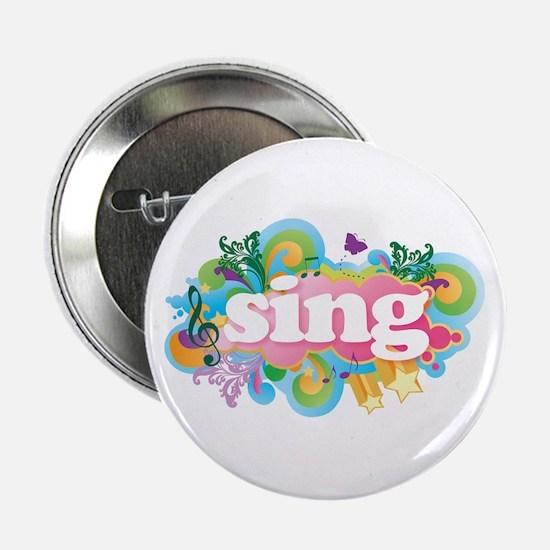 """Retro Sing 2.25"""" Button"""