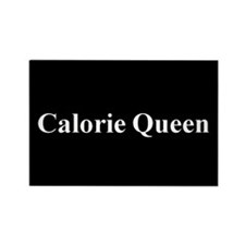 Calorie Queen Rectangle Magnet