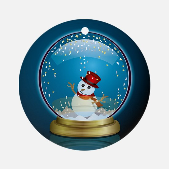 Snow Globe 2 Ornament (Round)