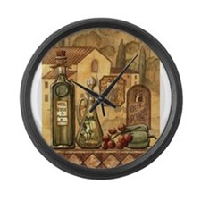 Unique Grapes and wine Large Wall Clock