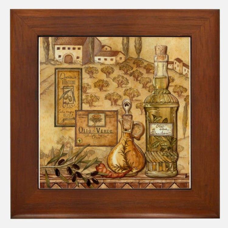 Cute Italian kitchen Framed Tile