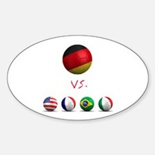 Germany vs The World Oval Decal