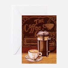 Cool Espresso Greeting Card