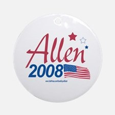 George Allen for Pres 2008 Ornament (Round)