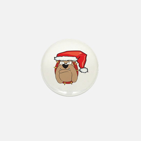SANTA BULLDOG Mini Button