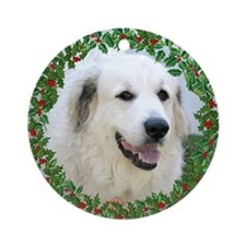 Pyrenees Holiday Ornament Ornament (Round)