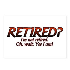 I'm Not Retired Postcards (Package of 8)