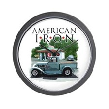 American Iron Wall Clock