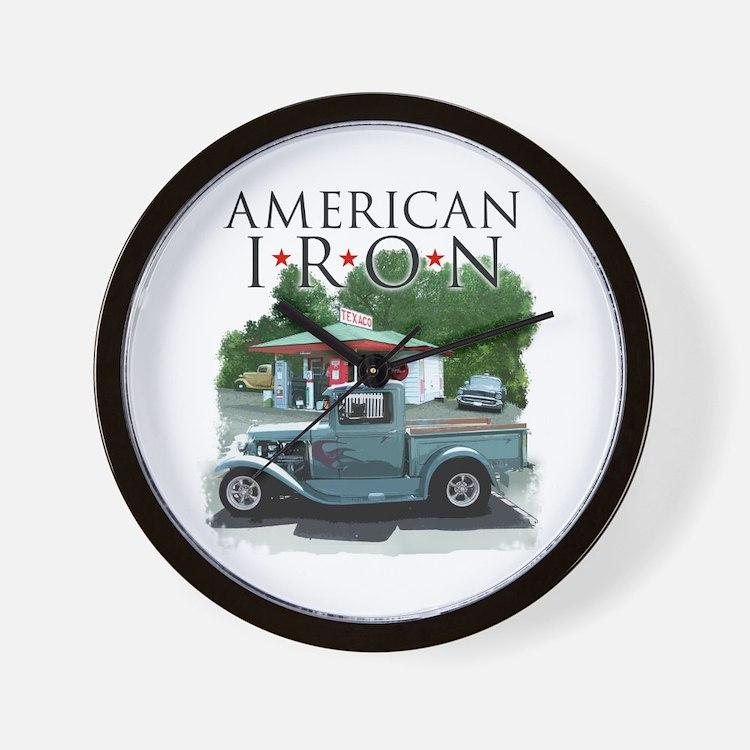 American Iron Wall Clock