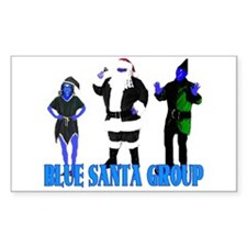 Blue Santa Group Rectangle Decal