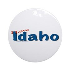 I Love Idaho Ornament (round)