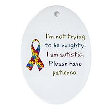 Autistic Oval Ornament