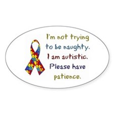 Autistic Oval Decal