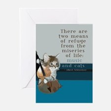 Cats and Music Greeting Cards (Pk of 20)