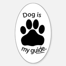 Dog is my Guide Oval Decal