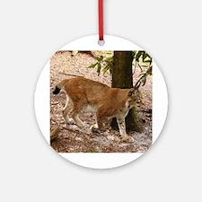 Siberian Lynx Ornament (Round)