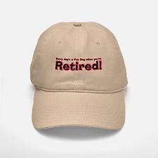 Retired: Broke But Happy Baseball Baseball Cap
