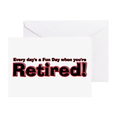 Retired: Broke But Happy Greeting Card