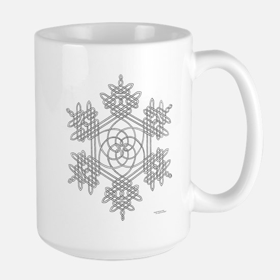 Knotwork Snowflake #1 Large Mug
