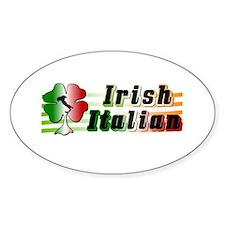 Irish Italian Oval Decal