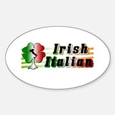 Irish Italian Oval Decal