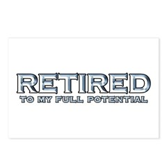 Retired To My Full Potential Postcards (Package of