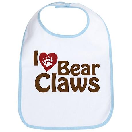I Love Bear Claws Bib