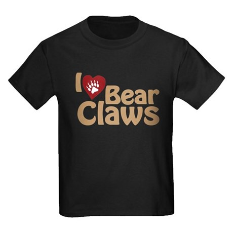 I Love Bear Claws Kids Dark T-Shirt