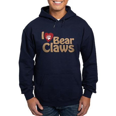 I Love Bear Claws Hoodie (dark)