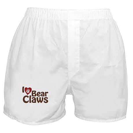 I Love Bear Claws Boxer Shorts