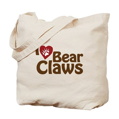 I Love Bear Claws Tote Bag