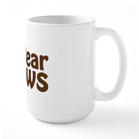 I Love Bear Claws Large Mug