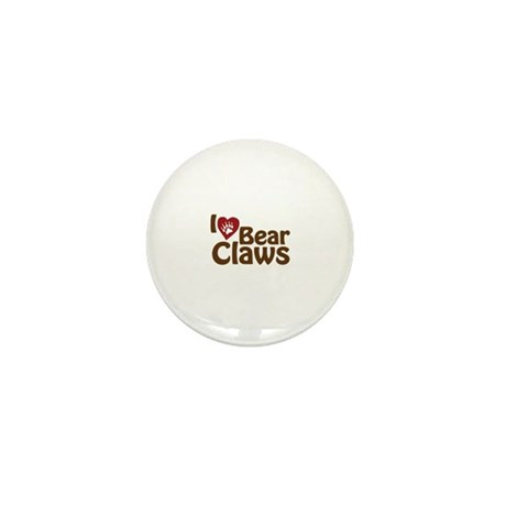 I Love Bear Claws Mini Button (100 pack)