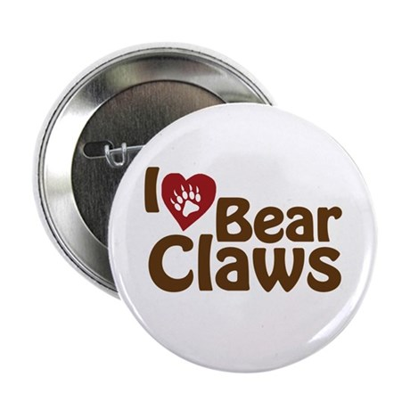 """I Love Bear Claws 2.25"""" Button (10 pack)"""