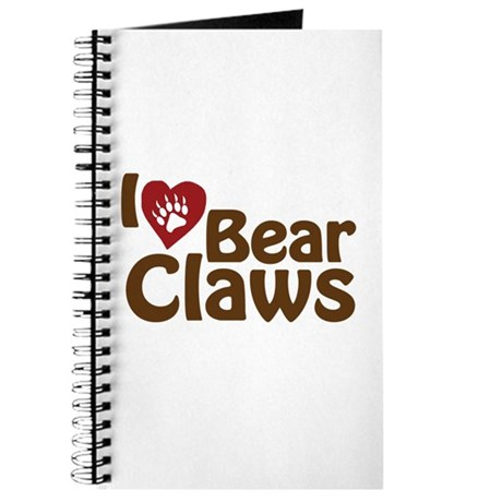 I Love Bear Claws Journal