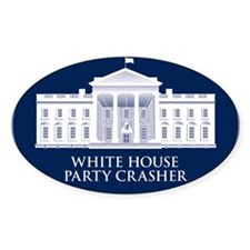 White House Party Crasher Oval Decal