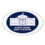 White House Party Crasher Oval Sticker (10 pk)