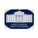 White House Party Crasher Rectangle Magnet (100 pa