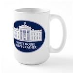 White House Party Crasher Large Mug