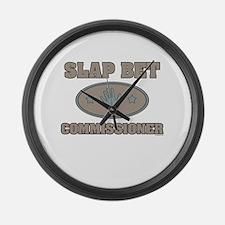 Slap Bet Commissioner Large Wall Clock