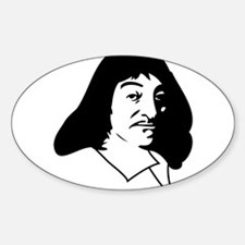 Rene Descartes Oval Decal