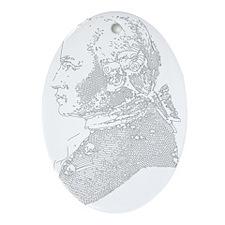 Immanuel Kant Oval Ornament