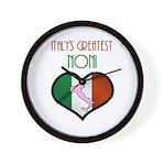Italy's Greatest Noni Wall Clock