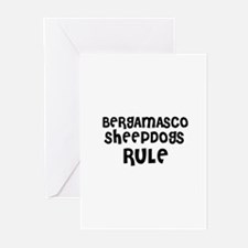 BERGAMASCO SHEEPDOGS RULE Greeting Cards (Package