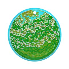 Golf Ball Holidays Christmas Ornament (Round)