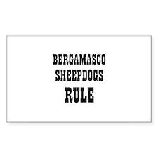 BERGAMASCO SHEEPDOGS RULE Rectangle Decal