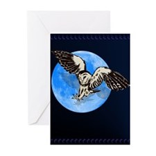 Blue Moon Owl Greeting Cards (Pk of 10)